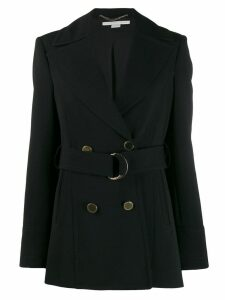 Stella McCartney double-breasted belted coat - Black