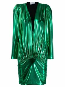 Attico laminated mini dress - Green
