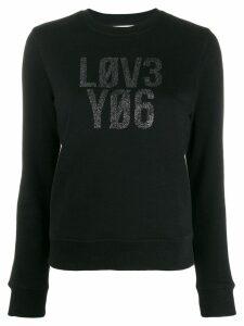 Red Valentino slogan print jumper - Black