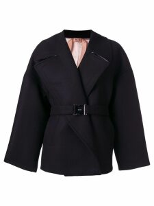 Nº21 oversized belted coat - Black