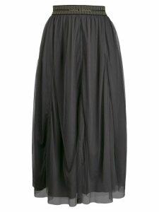 Luisa Cerano flared midi skirt - Grey