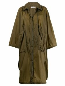 Henrik Vibskov single-breasted lightweight coat - Green