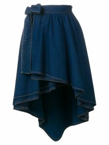 Sonia Rykiel high-low hem skirt - Blue