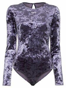 Off-White crushed velvet bodysuit - Blue