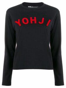 Y-3 logo top - Black