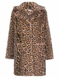 P.A.R.O.S.H. leopard print faux fur coat - Black