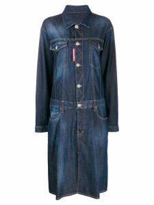 Dsquared2 oversized denim dress - Blue