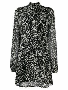 Saint Laurent graphic print shirt dress - Black