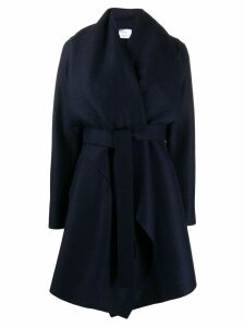 Harris Wharf London draped wrap coat - Blue