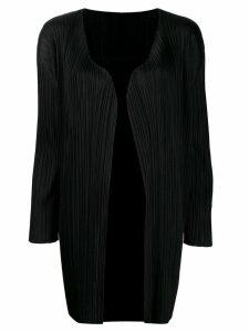 Pleats Please Issey Miyake pleated kaftan dress - Black