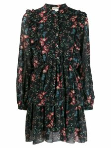Semicouture floral day dress - Black