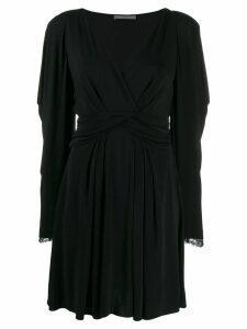 Alberta Ferretti lace sleeve dress - Black