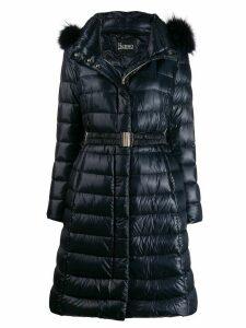Herno ultralight belted coat - Blue