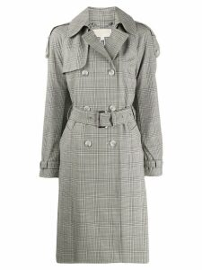 Michael Michael Kors checked trench coat - NEUTRALS