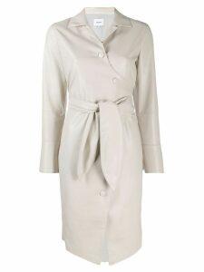 Nanushka Ailsa button-up dress - NEUTRALS