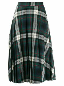 Semicouture plaid midi skirt - Green
