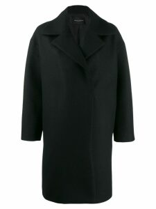 Erika Cavallini oversized overcoat - Black