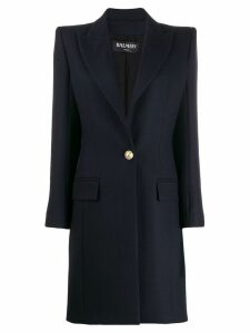 Balmain long line blazer - Blue