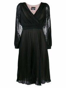 Boutique Moschino pleated midi dress - Black