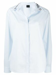 Pinko embellished collar shirt - Blue
