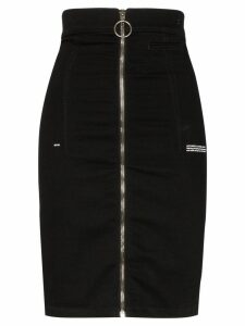 Off-White high-waisted denim skirt - Black
