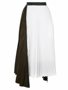 Sacai zip detail pleated skirt - Black