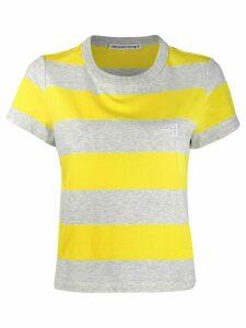 Alexander Wang striped short-sleeve T-Shirt - Grey