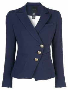 Smythe diagonal button blazer - Blue