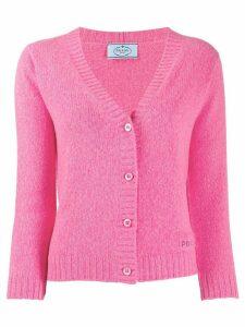 Prada knitted cropped cardigan - Pink