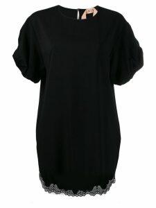 Nº21 puff-sleeve dress - 9000 Black