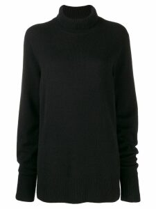 The Row funnel neck jumper - Black