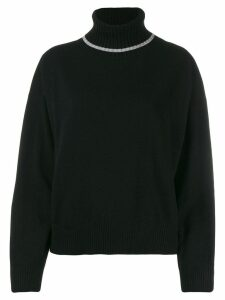 Semicouture relaxed-fit turtleneck jumper - Black