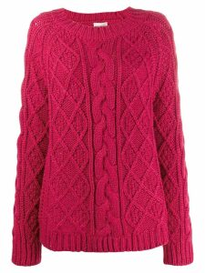 Semicouture chunky cable knit jumper - Red