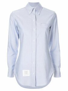 Thom Browne buttoned collar shirt - Blue