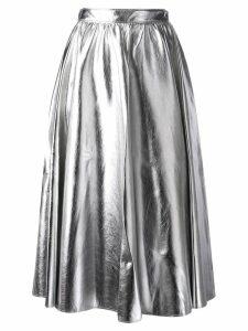 MSGM A-line midi skirt - Silver
