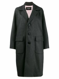 Dsquared2 wide lapel coat - Grey