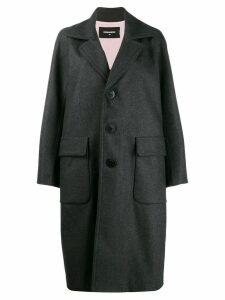 Dsquared2 wide lapel coat - Grey