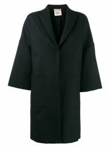 Semicouture kimono style overcoat - Blue