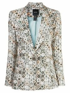Smythe graphic floral print blazer - Brown