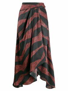 Isabel Marant asymmetric printed skirt - Black