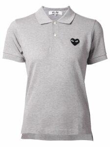 Comme Des Garçons Play heart logo polo shirt - Grey