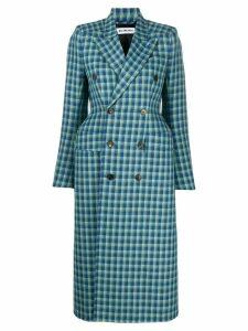 Balenciaga hourglass double breasted coat - Blue
