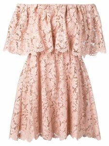 Valentino floral lace off-shoulder dress - Pink