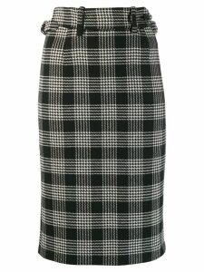 Red Valentino high wasted check skirt - Black