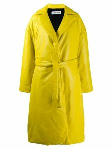 Balenciaga padded wrap trench coat - Yellow