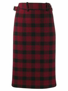 Red Valentino Glen Plaid pencil skirt