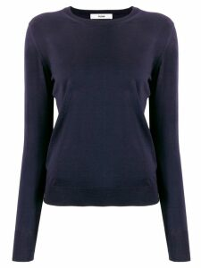 Roberto Collina round neck knitted top - Blue