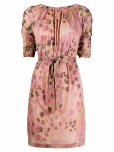 Blumarine short floral print dress - Pink