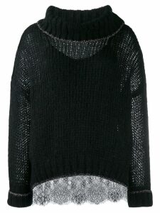 Twin-Set oversized jumper - Black