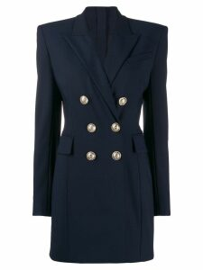 Balmain double breasted blazer dress - Blue